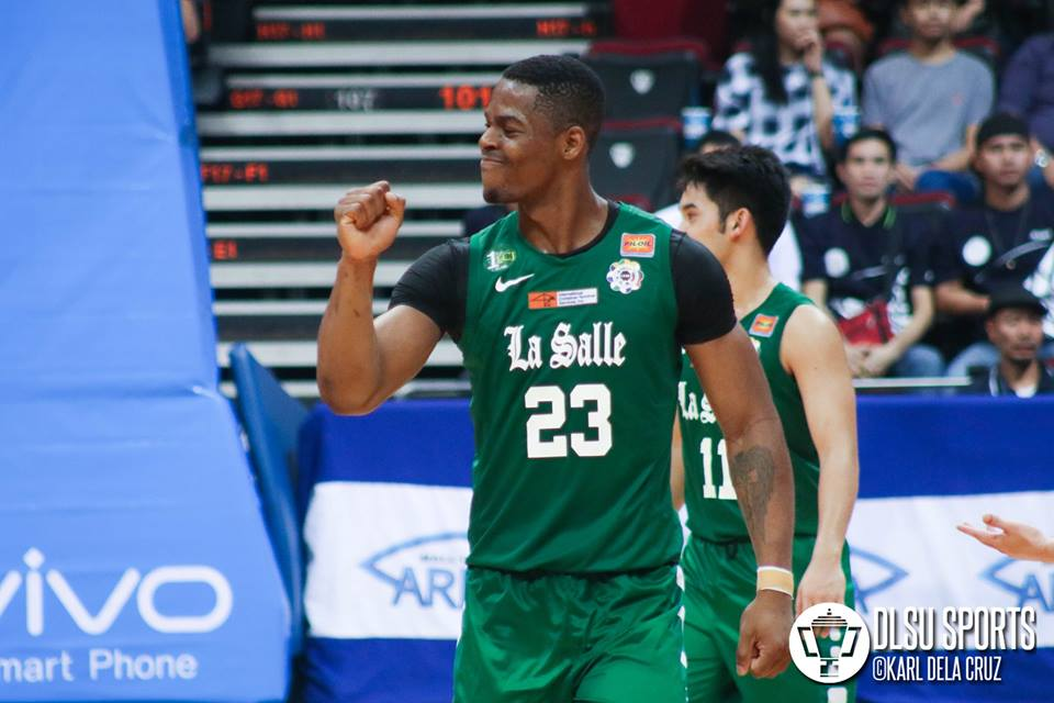 UAAP MVP Ben Mbala of the DLSU Green Archers