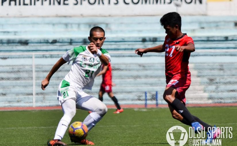 DLSU Green Booters roll past UE for third win