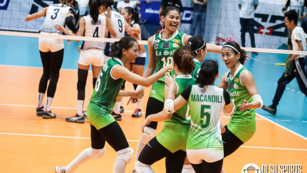The DLSU Lady Spikers exact revenge on the NU Lady Bulldogs with a dominant sweep.