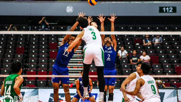 The DLSU Green Spikers dropped to 3-4 after losing to arch-rivals Ateneo.
