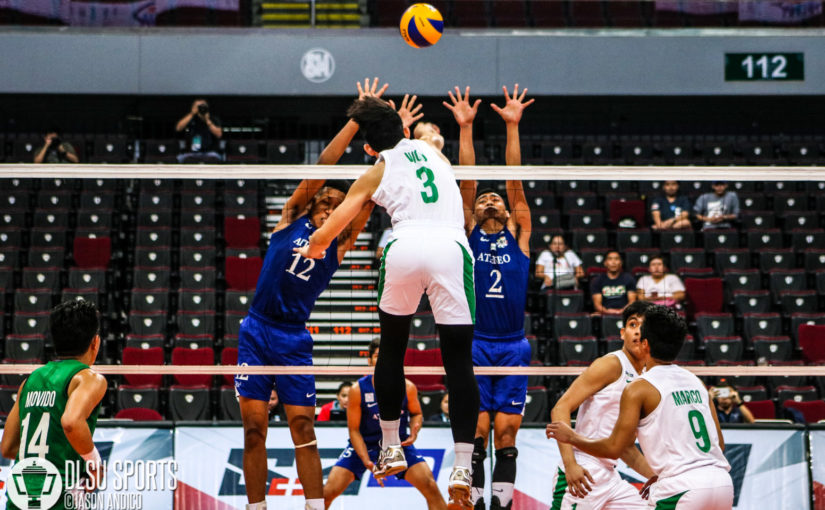 DLSU Green Spikers end first round with three-set loss to Ateneo