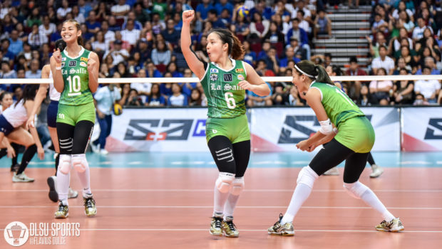 The DLSU Lady Spikers swept the second round after defeating arch-rivals Ateneo Lady Eagles in straight sets.