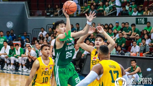 Santi Santillan led the Green Archers with 19 points, but his team fell to the FEU Tamaraws.