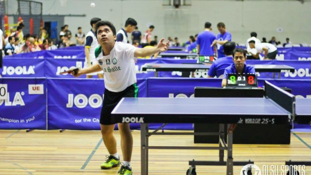 Team captain Tarak Cabrido led the Green Paddlers in their split results in Day 1 of the UAAP Season 81 Table Tennis tournament.